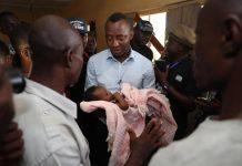 Omoyele Sowore visited the Bakassi IDP camp